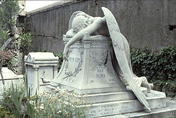 Original angel of grief in rome