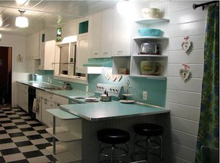 Josie's retro kitchen after