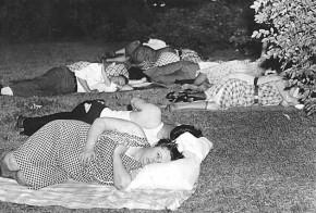 Sleeping in park