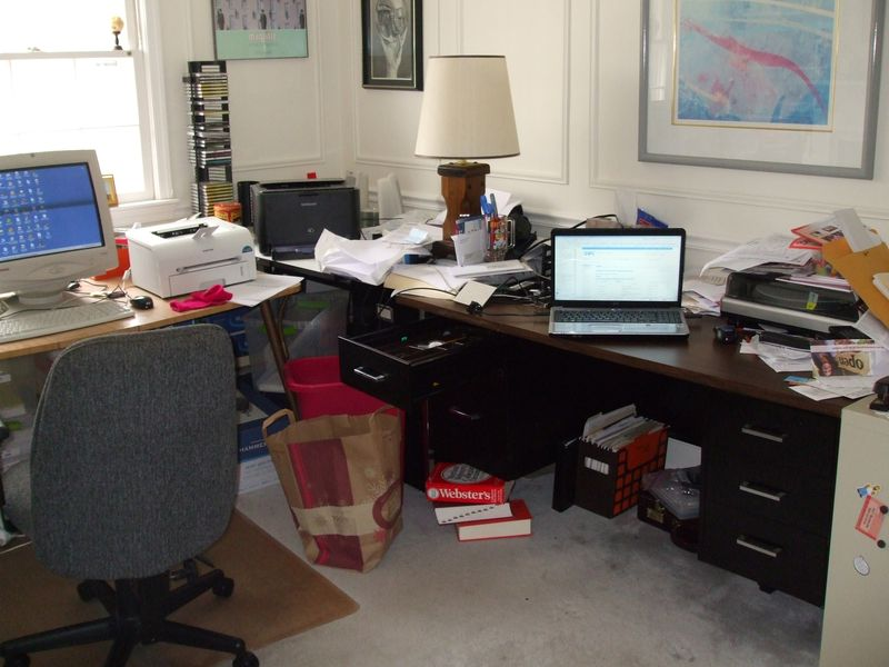 Messy office