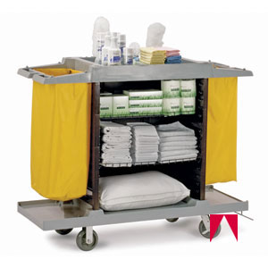 Hotel cleaning cart