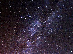 250px-Perseid_meteor_and_Milky_Way_in_2009