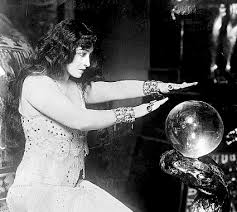 Crystal ball lady