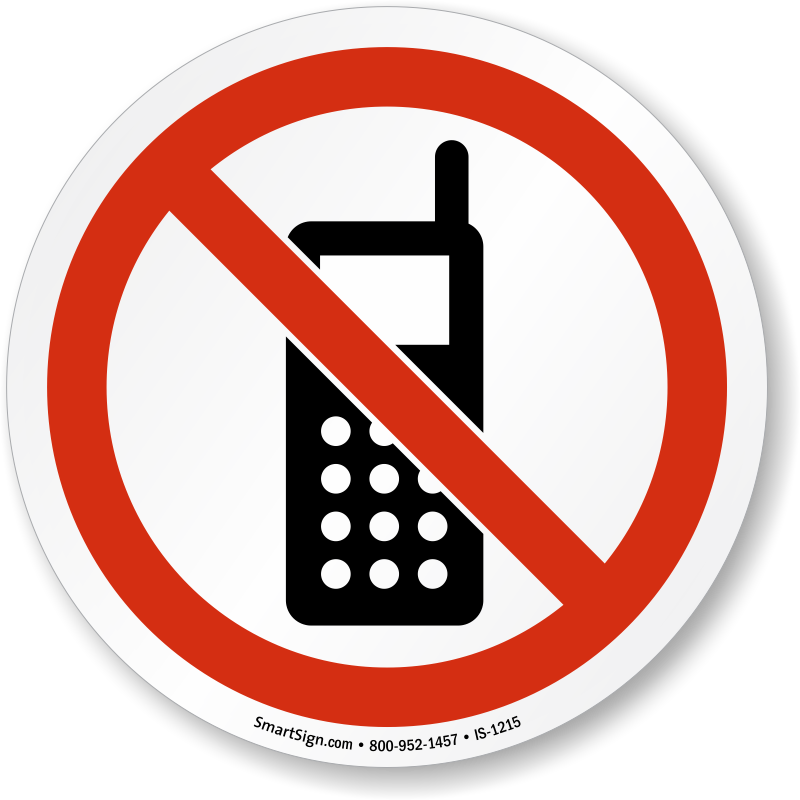 No cell phone1