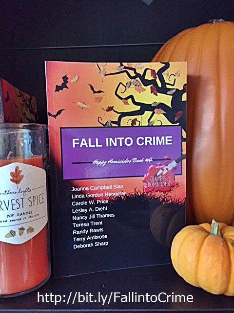 Fall into crime display and text