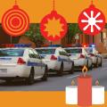 Christmas cop cars