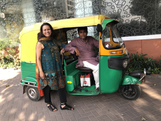 Sujata and motor rickshaw jpeg