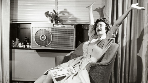 Woman-with-air-conditioner