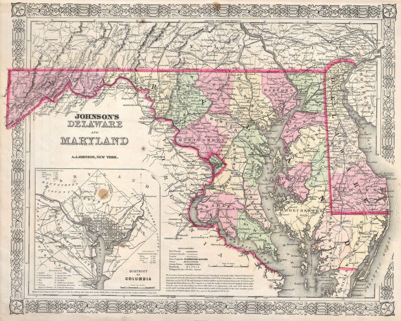 1864_Johnson's_Map_of_Maryland_and_Delaware_-_Geographicus_-_DEMD-j-64