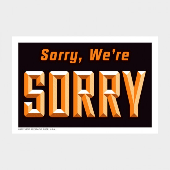 Sorry sign2