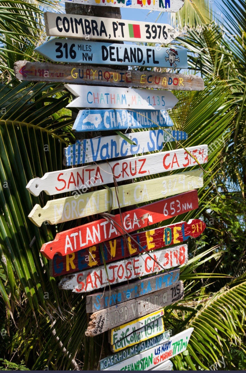 A-signpost-on-elbow-cay-abaco-bahamas-D5FMR1