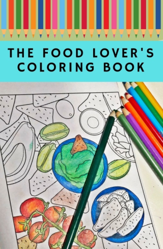 Food Lovers Coloring Book Cover
